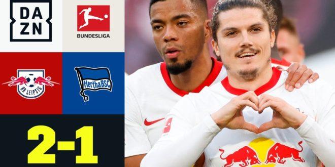 Jubel von Schirichaos & Tabellenführern: Leipzig - Hertha 2: 1 |  Bundesliga |  DAZN Highlights
