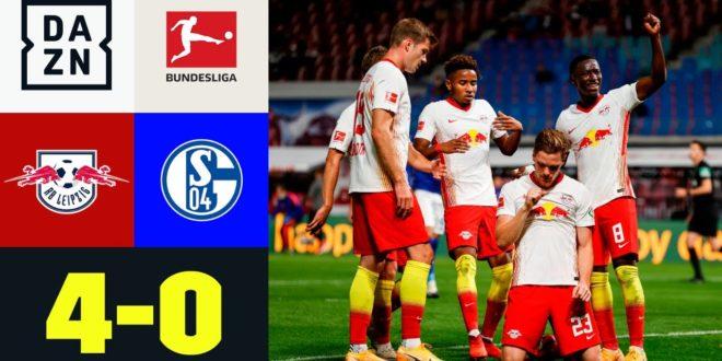 Die Roten Bullen vermasseln Baums Debüt: RB Leipzig - Schalke 4-0 |  Bundesliga |  DAZN Highlights