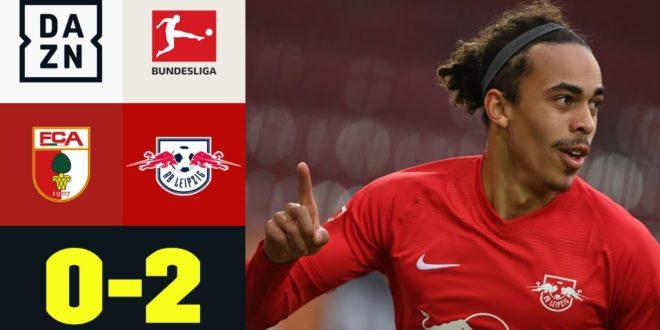 Poulsen Traumziel!  RBL verteidigt Tabellenführung: FC Augsburg - RB Leipzig 0: 2 |  Bundesliga |  DAZN