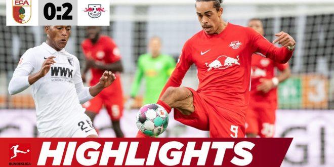Traumziel: Poulsen mit sensationellem Volleyhammer |  Augsburg - Leipzig 0: 2 |  Highlights |  Bundesliga