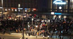 Demonstration des Querdenkens und anderer in Leipzig