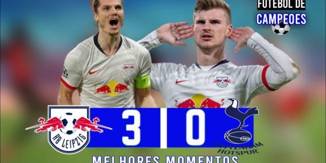 JOGO SENSACIONAL |  RB Leipzig 3 x 0 Tottenham |  Melhores Momentos HD 03/10/2020