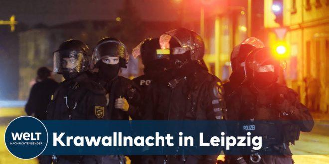 LEIPZIG: Hunderte protestieren und einige randalieren