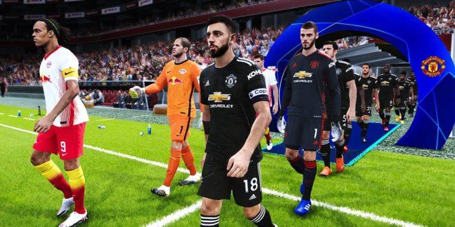RB Leipzig gegen Manchester United - UCL 8. Dezember 2020 Gameplay