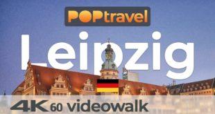 Wandern in LEIPZIG / Deutschland - Hauptbahnhof in die Innenstadt - 4K 60fps (UHD)