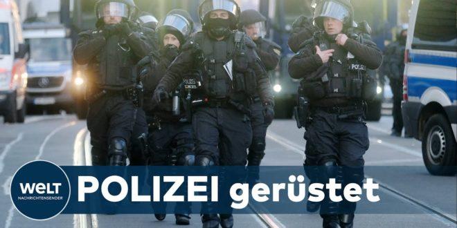 QUERDENKER-DEMO ABGESAGT: Großer Polizeieinsatz aufgrund von Kundgebungen in Leipzig