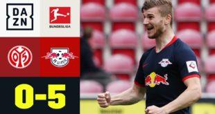 Torffest & Werner Triple Pack!  Leipzig schießt Mainz aus: Mainz 0: 5 RB Leipzig |  Bundesliga |  DAZN