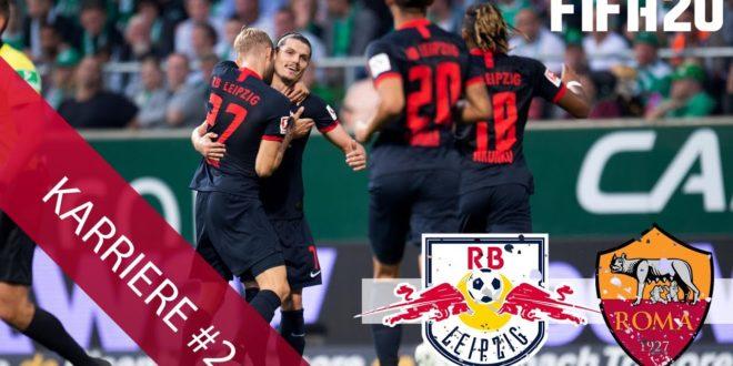 1. Spiel ⚽ gegen Roma ?️ - FIFA 20 # 02 - RB Leipzig Karrieremodus ?