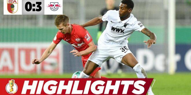 Angeliños Traumflusen krönen die Cremeleistung |  Augsburg - Leipzig 0: 3 |  DFB-Pokal |  Höhepunkte