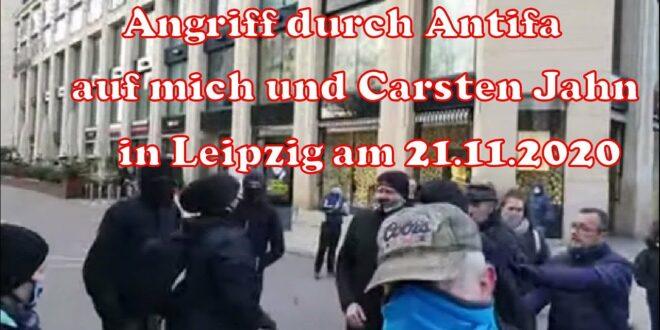 Angriff von Antifa auf mich und Carsten Jahn in Leipzig