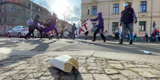 Feministischer Kampftag in Leipzig