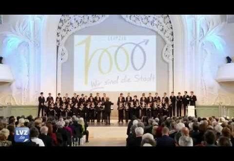 Zeremonie zum 1000-jährigen Bestehen von Leipzig in der Kongresshalle