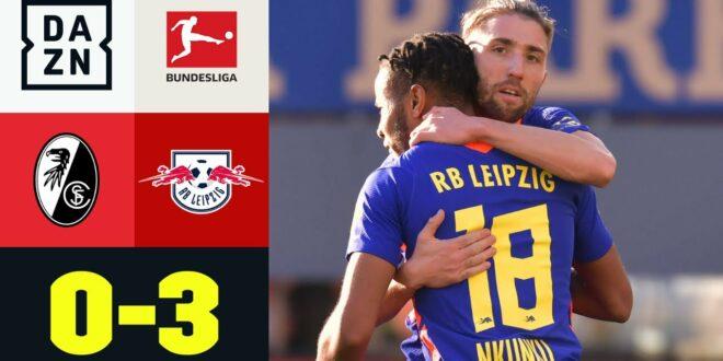 Bullen untermauern die Ambitionen der Meisterschaft: Freiburg - Leipzig 0: 3    Bundesliga    DAZN Highlights
