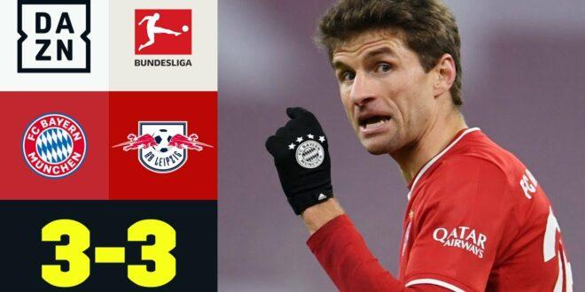 Doppel Müller hält die Bayern an der Tabellenspitze: FC Bayern - RB Leipzig 3: 3 |  Bundesliga |  DAZN
