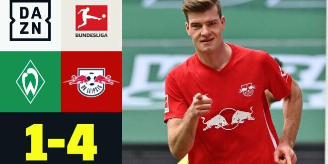 Doppelter Sörloth!  Eiskalter Leipziger Riss Werder: Bremen - RB Leipzig 1: 4 |  Bundesliga |  DAZN