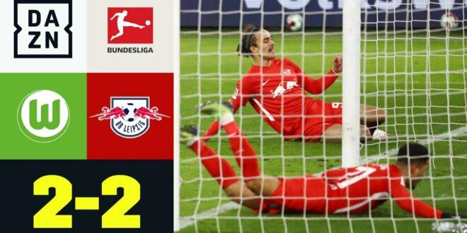 Leipzig rutscht am Sieg vorbei: VfL Wolfsburg - RB Leipzig 2: 2 |  Bundesliga |  DAZN Highlights