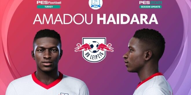 PES 2021 Amadou Haidara Gesicht |  RB Leipzig |  PES 2020