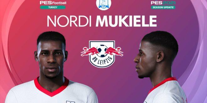 PES 2021 Nordi Mukiele Gesicht    RB Leipzig    PES 2020