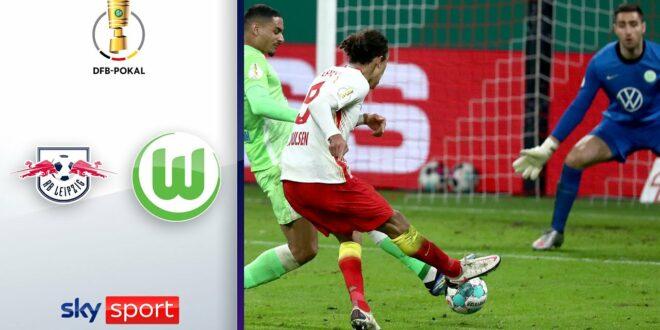 RB Leipzig - VfL Wolfsburg |  Höhepunkte - DFB-Pokal 2020/21 |  Viertel Finale