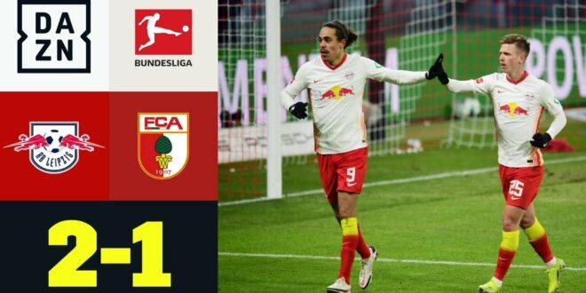 RB sehr cool bei eiskalt!  RB Leipzig - FC Augsburg 2: 1 |  Bundesliga |  DAZN Highlights