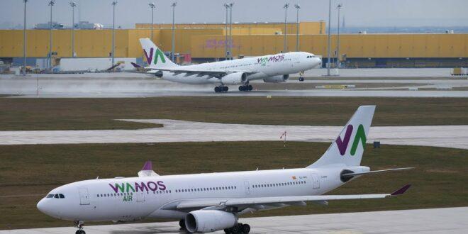 WAMOS AIR Airbus A330 Planespotting Flughafen Leipzig (LEJ) nach Madrid (MAD) Foto de avión Aeropuerto