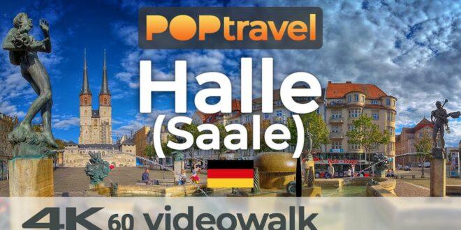 Wandern in HALLE (Saale) / Deutschland 🇩🇪- 4K 60fps (UHD)