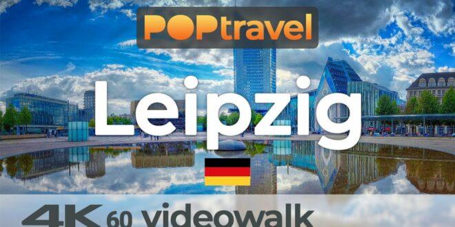 Wandern in LEIPZIG / Deutschland 🇩🇪- Stadtzentrum (2020) - 4K 60fps (UHD)