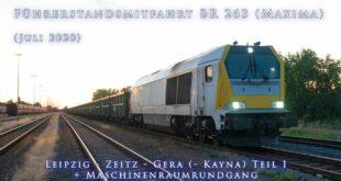 4k Taxifahrt Voith Maxima (BR 263) Leipzig - Zeitz - Gera (- Kayna) Teil 1