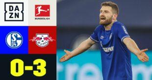 Auch Mustafi verhindert eine Niederlage nicht: Schalke - Leipzig 0: 3 |  Bundesliga |  DAZN Highlights