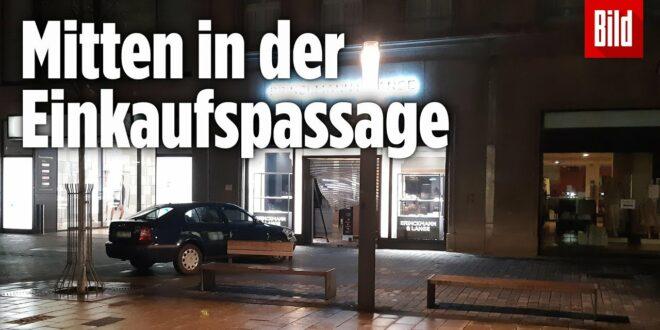 Diebstahl von Millionen: Räuber fahren Autos in Juweliergeschäfte  Leipzig