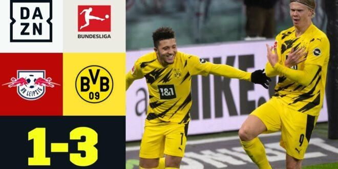 Double Haaland sichert dem BVB große Punkte: RB Leipzig-Borussia Dortmund 1: 3    Bundesliga    DAZN
