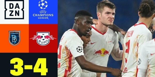 Last-Minute-Wahnsinn!  Sörloth löst Bullen ein: Basaksehir - Leipzig 3: 4 |  UEFA Champions League |  DAZN