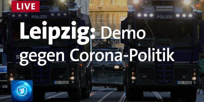 Live aus Leipzig: Demo gegen die Koronapolitik