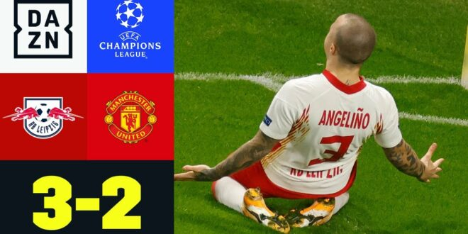Magischer Fuß Angelino!  RB weiter: Leipzig - Manchester United 3: 2 |  UEFA Champions League |  DAZN