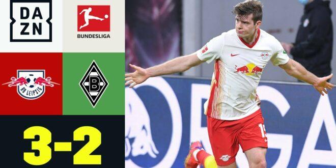 Spiel gedreht - Sörloth trifft in der Nachspielzeit: Leipzig - M'Gladbach 3: 2 |  Bundesliga |  DAZN