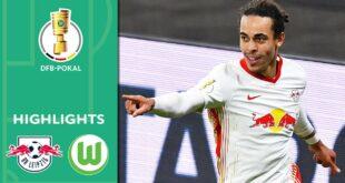 Weghorst schießt, Poulsen trifft |  Leipzig - Wolfsburg 2: 0 |  Highlights |  DFB-Pokal-Viertelfinale