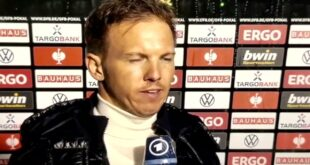 """Julian Nagelsmann: """"Alles in allem haben wir ein gutes Spiel gemacht!""""  RB Leipzig - Borussia Dortmund 1:4"""