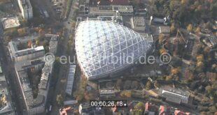 """Neubau der riesigen Tropenhalle """" Gondwanaland """" im Zoo Leipzig"""