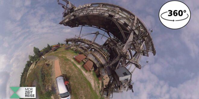 Schaufelradbagger im Tagebau Leipzig |  360 VR-Video |  MDR-ZEITREISEN