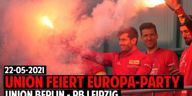 Union Berlin Fans & Spieler feiern Europapokal-Qualifikation |  Union Berlin - RB Leipzig 2-1