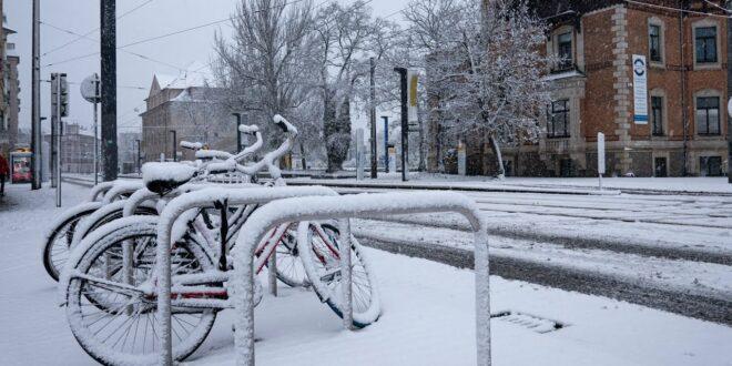 Wintereinbruch in Leipzig 03.01.2021